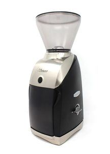 The Baratza Virtuoso coffee bean grinder.