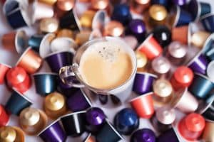 collection of the best Nespresso coffee capsules for latte and cappuccino